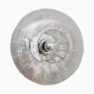 Applique o lampade da soffitto in vetro di Murano, Italia, anni '70, set di 2