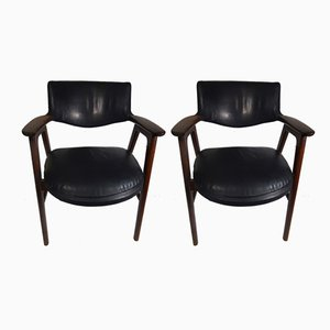 EK55C Chairs by Erik Kirkegaard for Fremstilled Mobelfabriken, 1950s, Set of 2