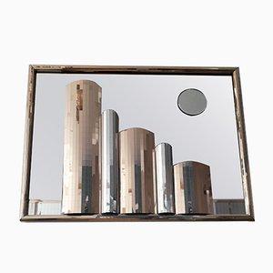 Amerikanischer Spiegel mit abstrakter City Skyline, 1970er