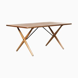 At303 Cross-Leg Table by Hans J. Wegner for Andreas Tuck, 1966