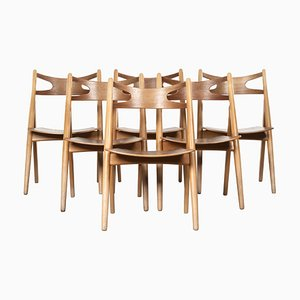 CH29 Sawbuck Chairs by Hans J. Wegner for Carl Hansen, 1966, Set of 6