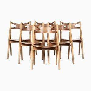 CH29 Sawbuck Stühle von Hans J. Wegner für Carl Hansen, 1966, 6er Set