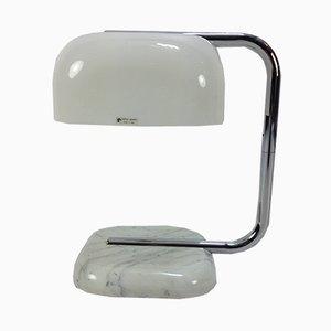 Lámpara de mesa con pie de mármol de Guzzini, años 70