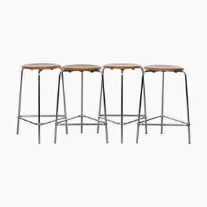 High M3170 Dot Stools by Arne Jacobsen for Fritz Hansen, 1969, Set of 4