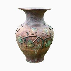 Große Vintage Vase aus Terrakotta
