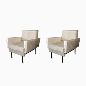 Minimalistische italienische Sessel, 1950er, 2er Set