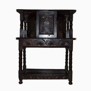 Credenza in legno di quercia scuro con anta, XVIII secolo