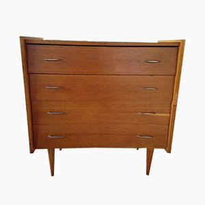 Mid-Century Chest of Drawers on Tapered Legs from Sipe