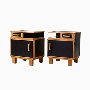 Vintage Bedside Cabinets, 1950s, Set of 2