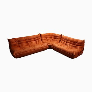 Modular Orange Togo Sofa Set by Michel Ducaroy for Ligne Roset, 1970s