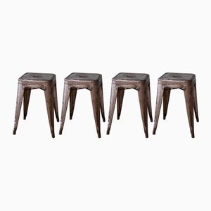 Vintage Stools by Xavier Pauchard for Tolix, Set of 4
