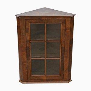 Antique Georgian Glazed Walnut Corner Cupboard
