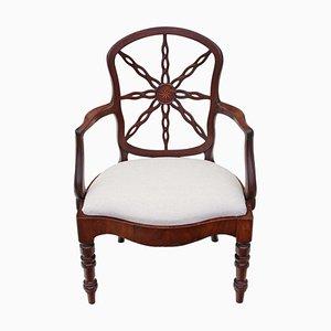 Chaise de Bureau de Style Géorgien en Acajou, 1800s