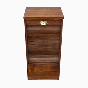 Antique Mahogany Tambour Fronted Filing Cabinet, 1915