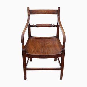 Antique Georgian Elm Elbow Desk Chair
