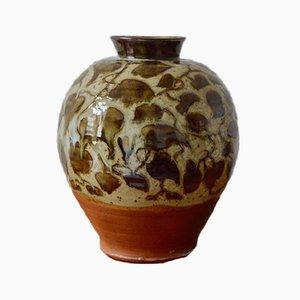 Large Globular Sandstone Vase by Pierre Yves Morvan, 1980s