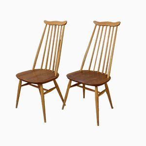 Helle 369 Goldsmith Esszimmerstühle mit hoher Rückenlehne von Ercol, 1950er, 2er Set