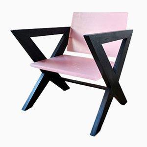 Sedia rosa in resina di Louis Jobst, 2016