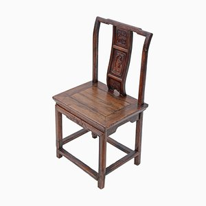 19th Century Chinese Carved Elm Chair