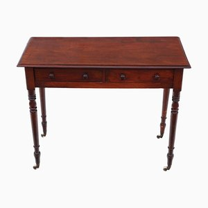 Antiker viktorianischer Schreibtisch aus Mahagoni, 1860er