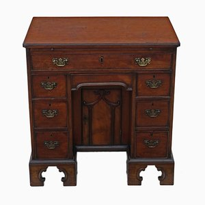 Antique Georgian Mahogany Pedestal Desk, 1800s