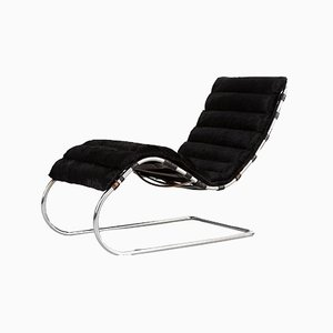 Brazilian Cowhide Model 241 LS Chaise Lounge by Ludwig Mies van der Rohe for Knoll International, 1970s