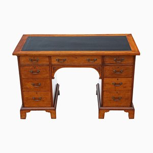 Antique Victorian Walnut Twin Pedestal Desk from Gillow's, 1890s
