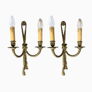 Wandlampen aus Gussbronze von Peris Andreu, 1970er, 2er Set