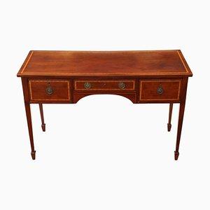 Antiker Schreibtisch aus Mahagoni mit Intarsien