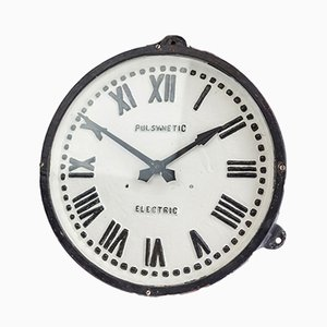 Pul-Syn-etic Cast Iron Factory Clock from Gents of Leicester, 1920s
