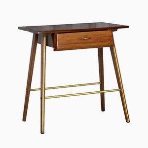 Mesa de centro vintage de teca, años 50