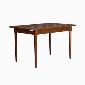 Mesa de comedor extensible vintage de teca, años 60