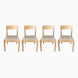 Dänische Esszimmerstühle mit Gestell aus Eiche & Wollbezug von Kai Kristiansen für KS Mobler, 1960er, 4er Set