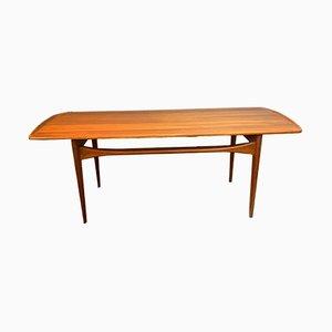 Table Basse en Teck par Tove & Edvard Kindt-Larsen pour France & Søn, Danemark, 1950s