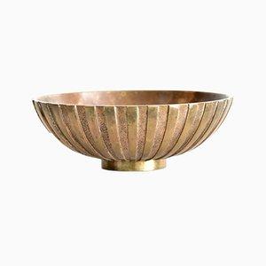 Cuenco danés Art Déco de bronce de Tinos, años 30