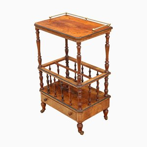 Antique Victorian Mahogany Serving Trolley