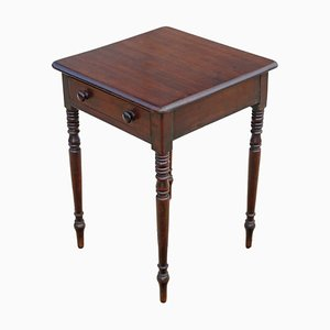 Antique Victorian Mahogany Side Table, 1860s