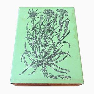 Caja de cigarrillos de madera y metal de Atelier Fornasetti, años 60