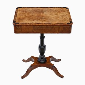 Antique Crossbanded Walnut Side Table