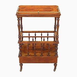 Antiker viktorianischer Canterbury Tisch aus Mahagoni mit Intarsien