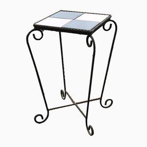 Ungarischer Tisch mit handgehämmertem Eisengestell, 1950er