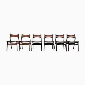 Modell 310 Esszimmerstühle aus Palisander von Erik Buch, 1960er, 6er Set