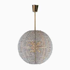 Gold-Plated Supernova Chandelier from Bakalowits & Söhne, 1960s