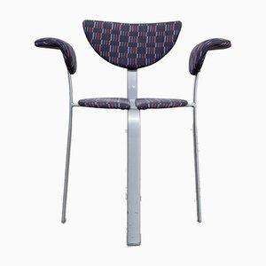 Stühle aus Metall & Stoff von BKS Denmark, 1980er, 3er Set