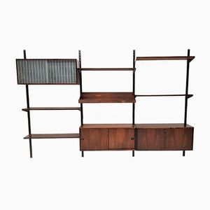 Brazilian Rosewood Wall Unit by Kai Kristiansen for Feldballe Møbelfabrik, 1961