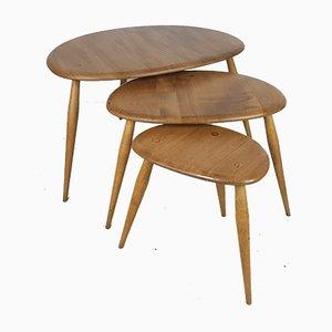 Tavolini a incastro Mid-Century di Lucian Ercolani per Ercol