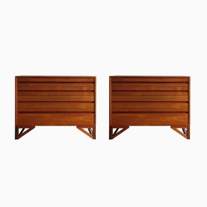 Danish Teak Dressers, 1960s, Set of 2
