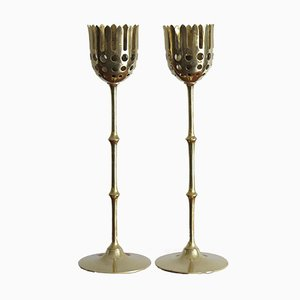 Scandinavian Brass Candleholders by Bjorn Wiinblad, 1950s, Set of 2