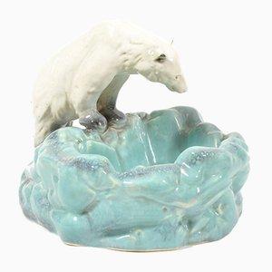 Keramik Schale oder Aschenbecher in Eisbären-Optik von Ditmar Urbach, 1930er