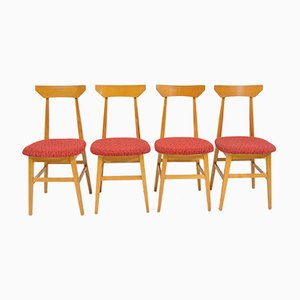 Esszimmerstühle aus Weichholz von Døevotex, 1970er, 4er Set